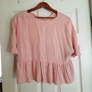 Zara pink blouse size s